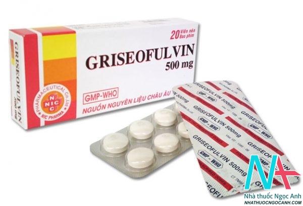 Griseofulvin 500mg giá bao nhiêu