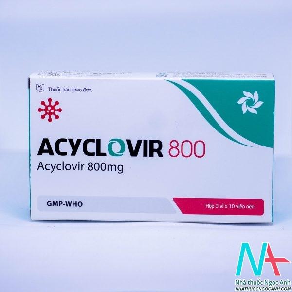 Viên nén Acyclovir 800 mg