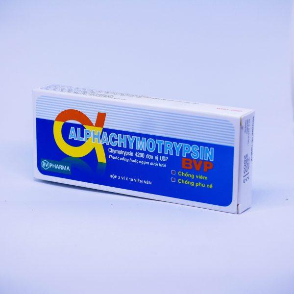 chống viêm alpha chymotrypsin