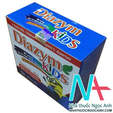 Diazym kids hỗ trợ chuyển hóa và hấp thu thức ăn, giúp ăn ngon miệng, năng cao sức đề kháng
