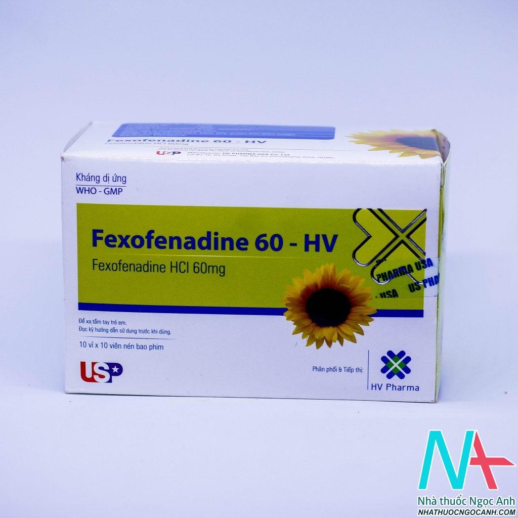 Thuốc Fexofenadine 60 HV