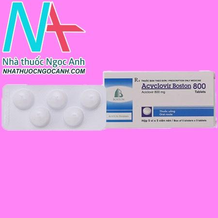 Hộp thuốc AcyclovirBostin 800