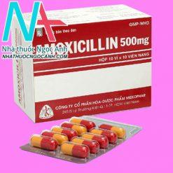 Hộp và vỉ thuốc Amoxicillin