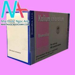 Hộp thuốc Kalium Chloratum