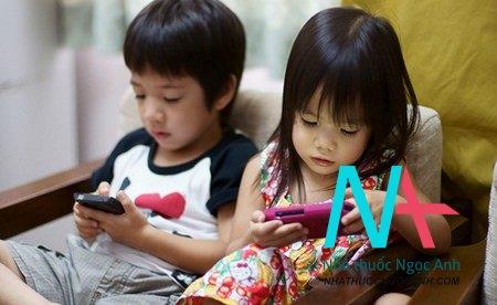 tác hại của trẻ em sử dụng công nghệ