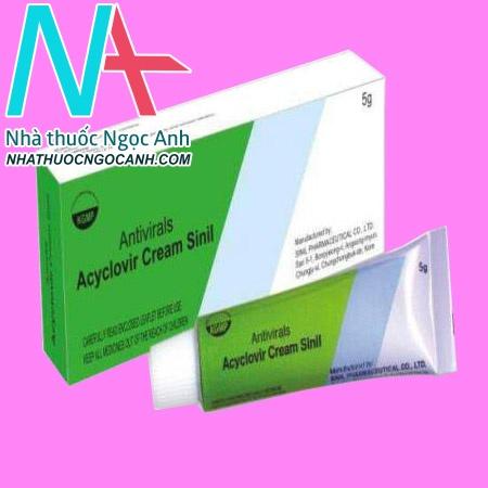 Thuốc Acyclovir Cream Sinil