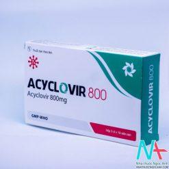 Hộp thuốc Acyclovir 800