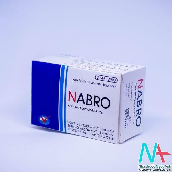 Thuốc Nabro có tác dụng tiêu dịch nhày đường hô hấp