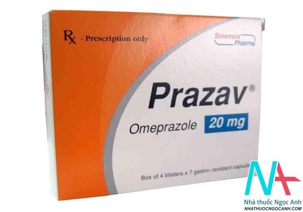 thuốc prazav chữa loét dạ dày