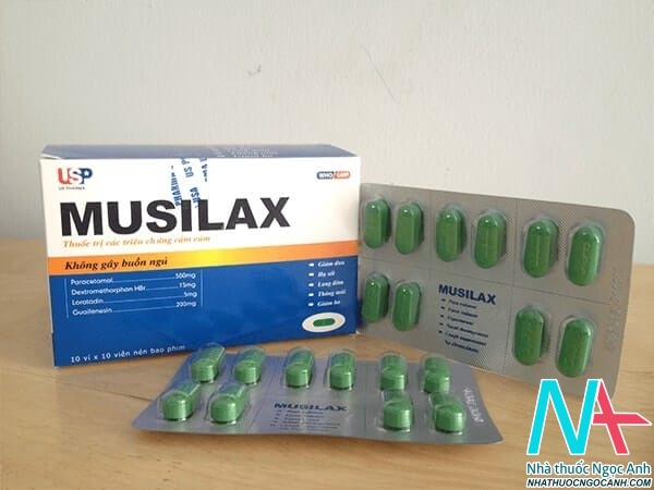 Hộp và vỉ thuốc Musilax