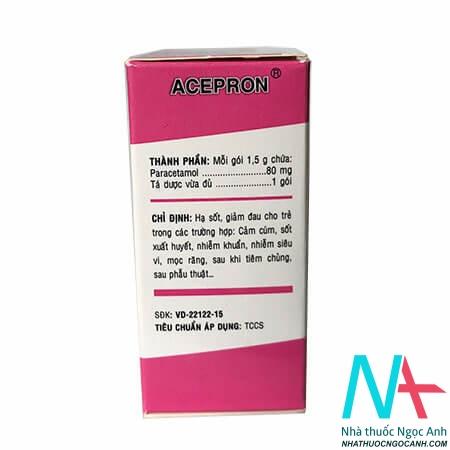 Acepron 80mg giá bao nhiêu