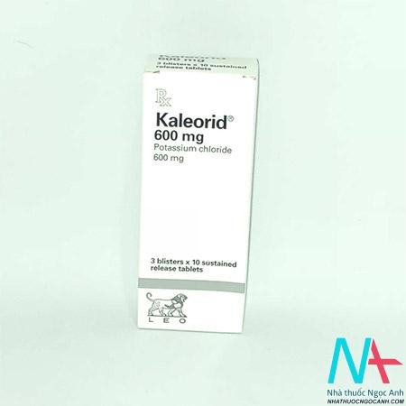 thuốc kaleorid cung cấp kali