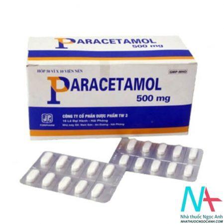 thuốc paracetamol giảm đau, hạ sốt