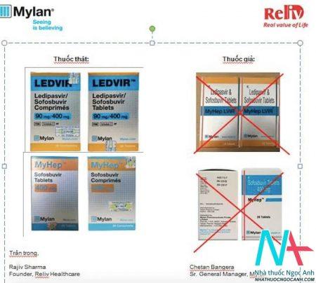 Hướng dẫn phân biệt thuốc Ledvir thật giả
