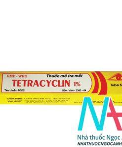 thuốc mỡ tra mắt tetracyclin 1%