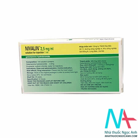 Nivalin 2,5mg tiêm