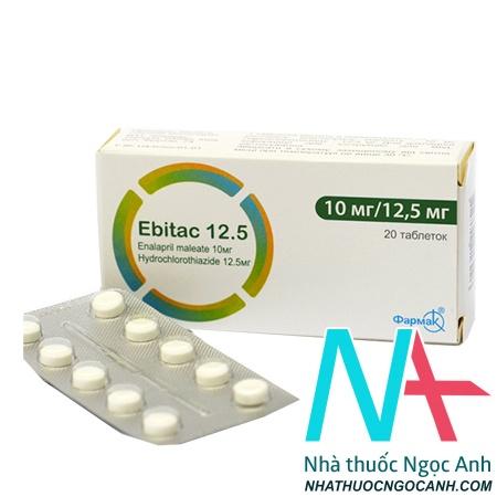 thuốc Ebitac 12.5 giá bao nhiêu