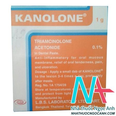 thuốc nhiệt miệng Kanolone của Thái Lan