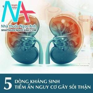 5 DÒNG KHÁNG SINH TIỀM ẨN NGUY CƠ GÂY SỎI THẬN.