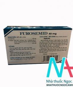 Hộp thuốc furosemid