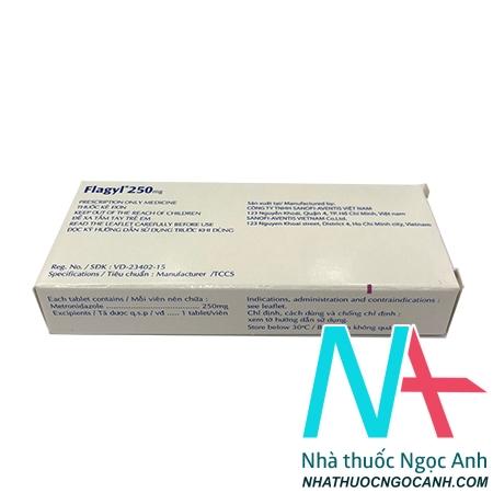 thuốc Flagyl 250mg giá bao nhiêu