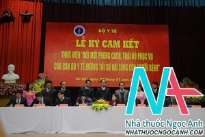 Lễ ký cam kết giữa Bộ Y tế với các Bệnh viện trong đó có Bệnh viện ĐH Y Hà Nội