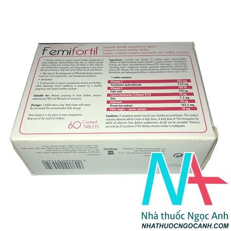 thuốc femifortil giá bao nhiêu