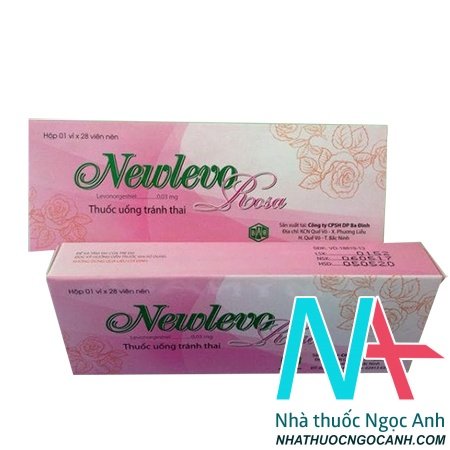 thuốc tránh thai Newlevo Rosa màu hồng