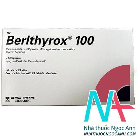 Hộp thuốc berlthyrox 100
