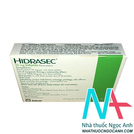 Hộp Hidrasec 10mg infants