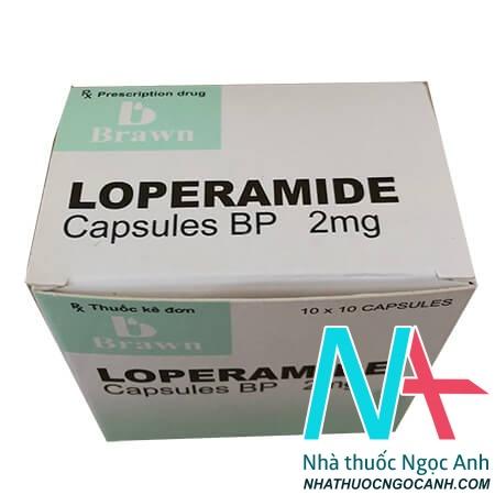 Hộp thuốc Loperamid Capsules BP 2 mg