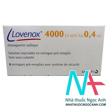 Hộp thuốc Lovenox 4.000 anti-Xa IU/0,4 ml