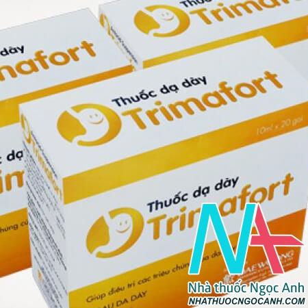 ThuốcTrimafort có tác dụng điều trị tăng tiết acid dịch vị, ợ nóng, khó chịu ở dạ dày ruột