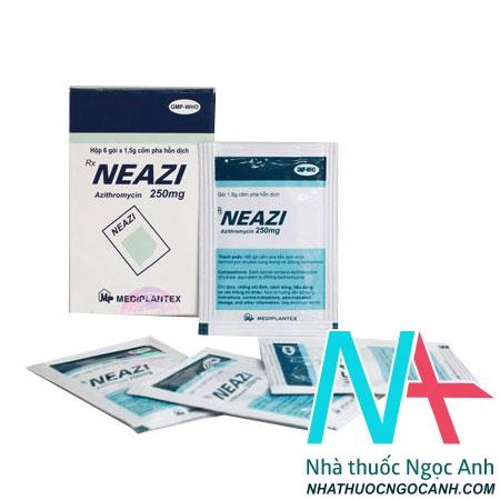 Cốm pha hỗn dịch Neazi 250 mg