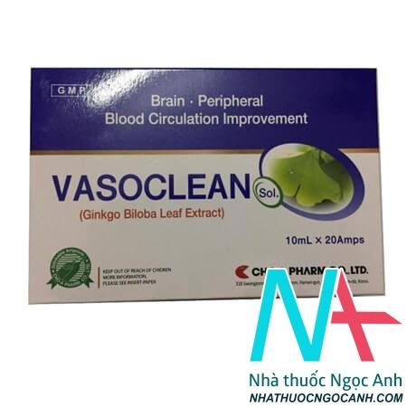 VASOCLEAN Sol có tác dụng điều trị các rồi loạn tuần hoàn của động mạch ngoại vi