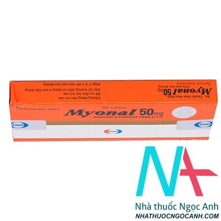 Hộp thuốc Myonal