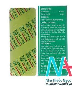 Eucalyptin có tác dụng hỗ trợ sát trùng đường hô hấp