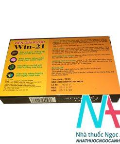 Viên giải rượu win 21