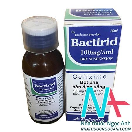 Bactirid 100mg/5ml dry suspension là thuốc gì