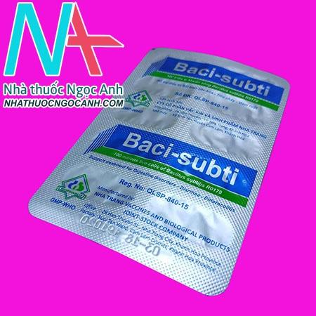 Vỉ thuốc Baci subti