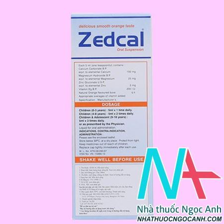 Thuốc Zedcal 200mlgiá bao nhiêu