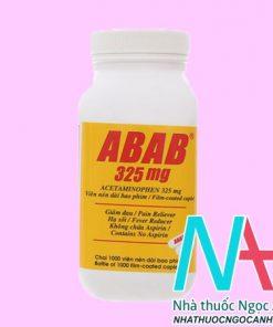 Thuốc Abab 325 mg