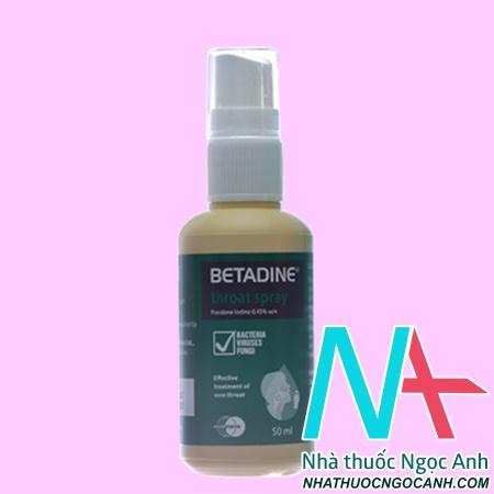 thuốc Betadin Throat Spray 50ml giá bao nhiêu