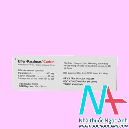 Hộp thuốc Effer - Paralmax Codein