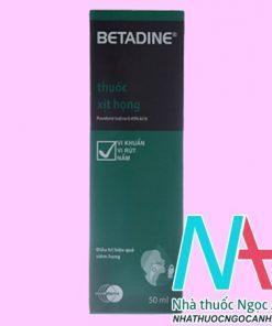 thuốc Betadin Throat Spray 50ml