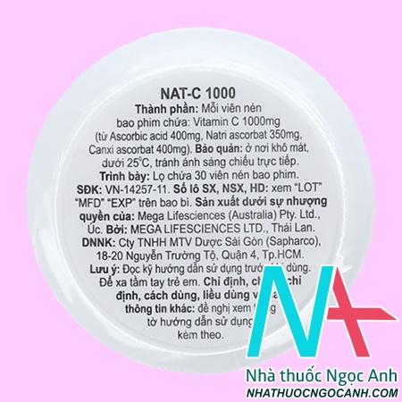 thuốc Nat C 1000 giá bao nhiêu