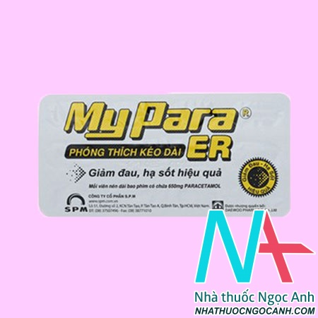 Vỉ Thuốc Myparra ER