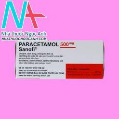 Hộp thuốc Paracetamol Sanofi