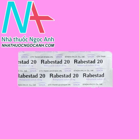 Vỉ thuốc Rabestad 20mg