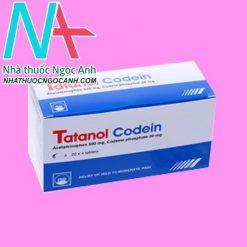 Hộp thuốc Tatanol Codein